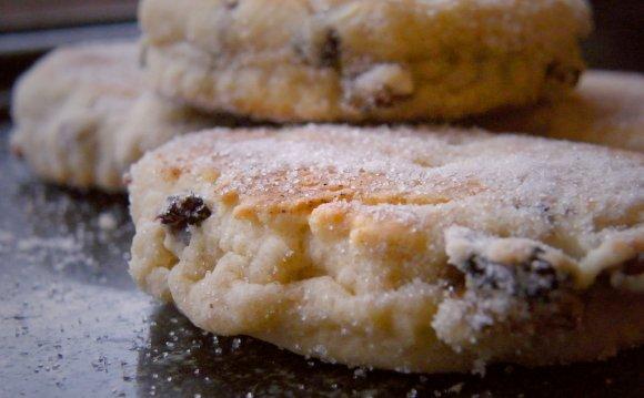 Closeup of Welsh cakes