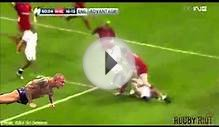 Randy Orton RKO to George North (Wales v England)